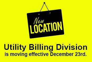 Utility Billing New Location