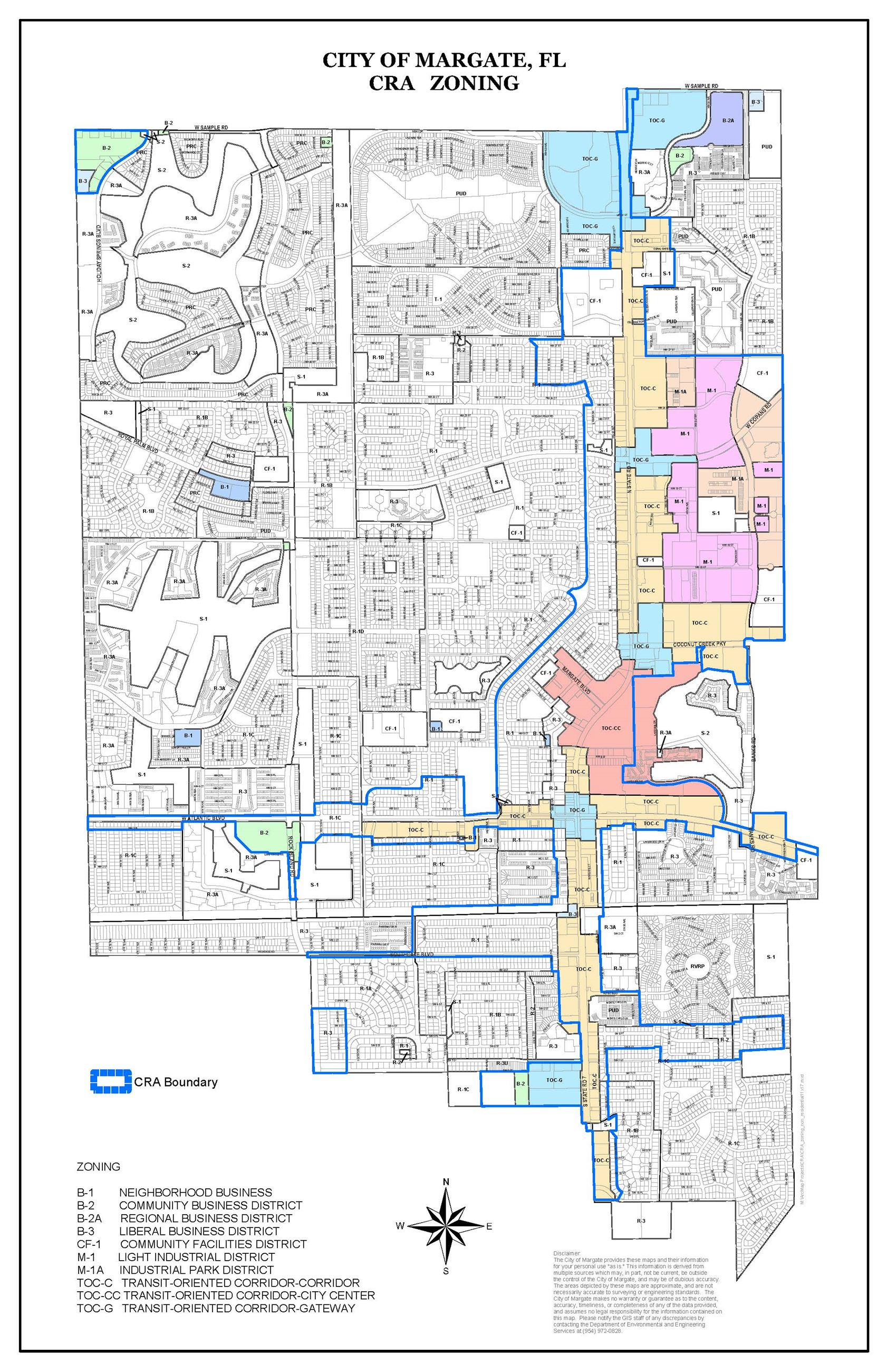 CRA zoning map non-residential Opens in new window